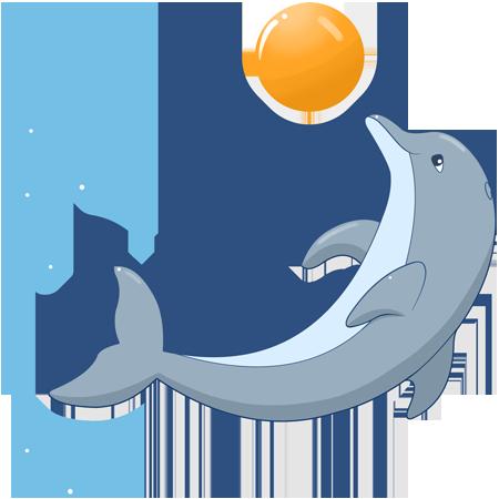 A dauphins tubes et bannieres vierges - Dauphin dessin couleur ...