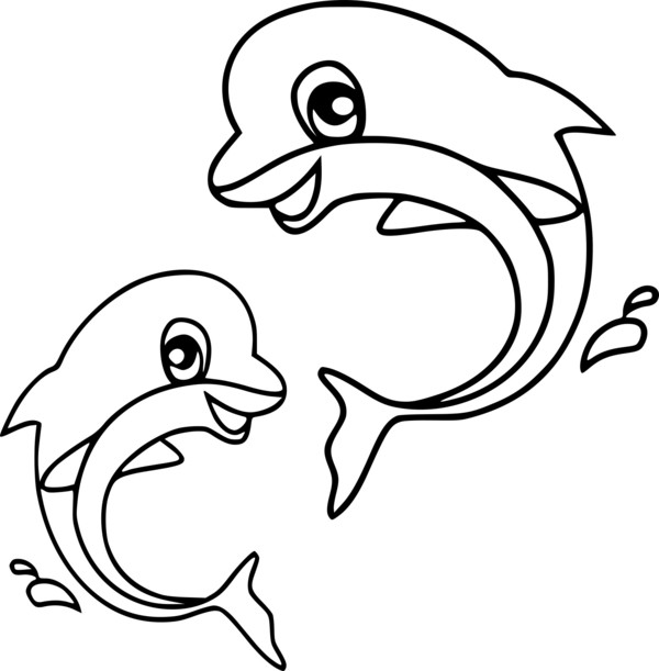 Coloriage Dauphin Amoureux.Coloriage Dauphins