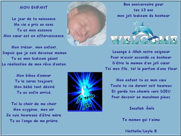 anniversaire de naissance de mon fils