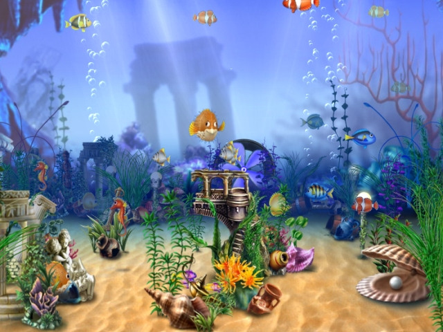 Maxalae tlcharger dream aquarium screensaver un for Fond ecran gratuit aquarium