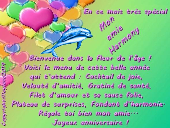 Harmony2011 Joyeux Anniversaire Mon Amie