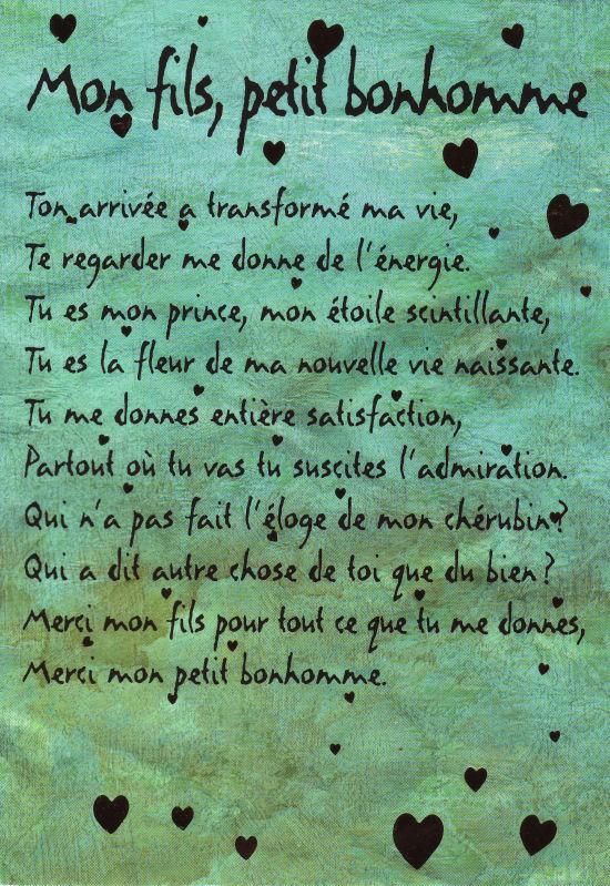 Haribo Et Louna Poème Pour Mon Fils