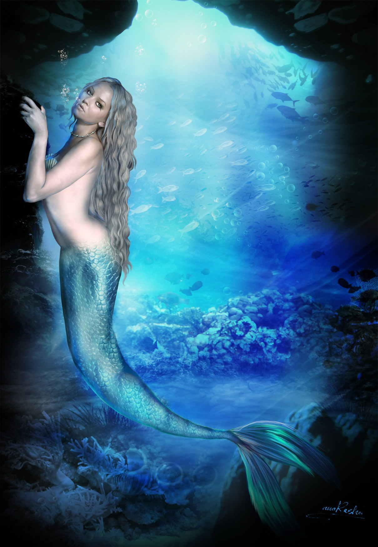 Mermaid Beautiful Concept Art and Pictures.
